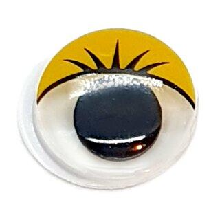 Wackelaugen mit gelben Wimpern 12mm Selbstklebend