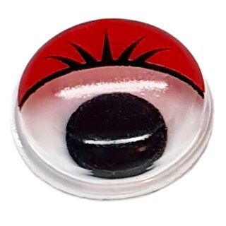 Wackelaugen mit roten Wimpern 12mm Selbstklebend