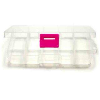 10 Fächer Boxen Transparent Wiederverschließbar