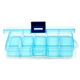 10 Fächer Boxen Hellblau-Transparent